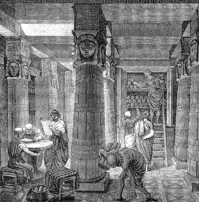 An artistic interpretation of the Library of Alexandria based on archaeological evidence by O. Von Corven. (Photo: Public Domain)
