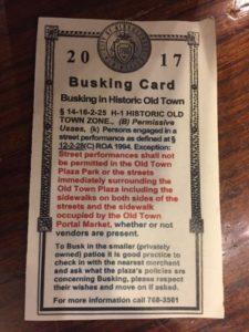 busking card